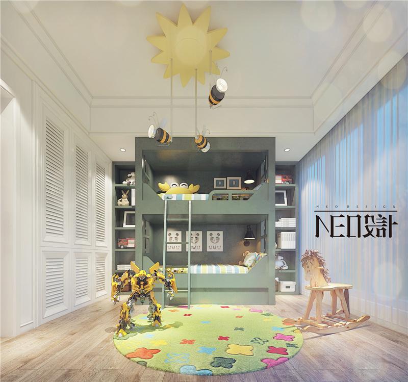 美式 收纳 旧房改造 80后 小资 福州设计师 尼欧设计师 儿童房图片来自尼欧 | NEO设计在尼欧—《雅奢素影》的分享