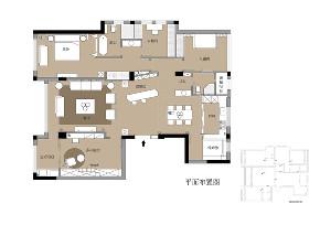 美式 收纳 旧房改造 80后 小资 福州设计师 尼欧设计师 户型图图片来自尼欧 | NEO设计在尼欧—《雅奢素影》的分享