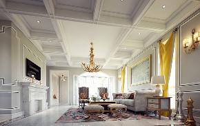 尼欧设计师 美式 别墅 福州设计师 客厅图片来自尼欧   NEO设计在尼欧—《高级灰+奢华金》的分享
