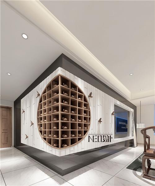 新中式 三居 福州设计师 白领 收纳 旧房改造 客厅图片来自尼欧 | NEO设计在尼欧—《墨痕》的分享