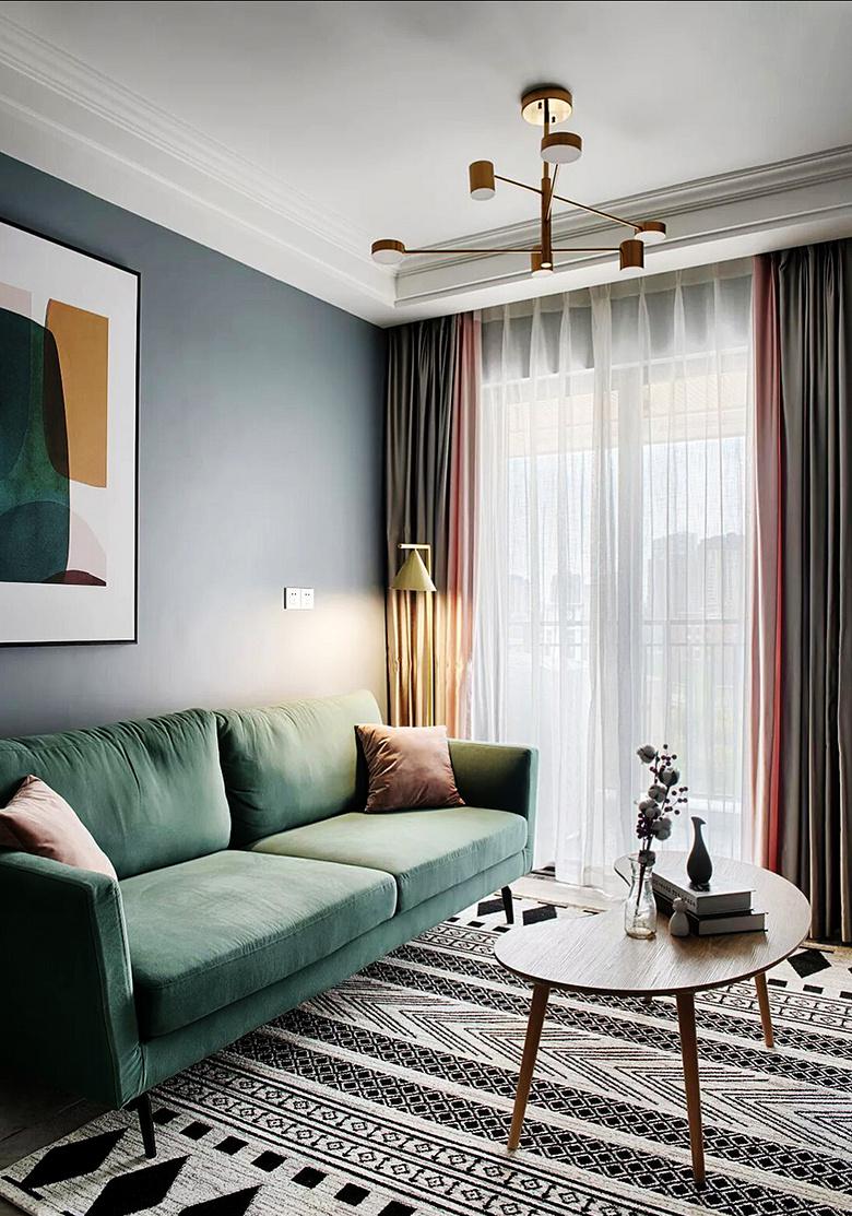 客厅图片来自家装大管家在57平北欧混搭空间 简简单单生活的分享