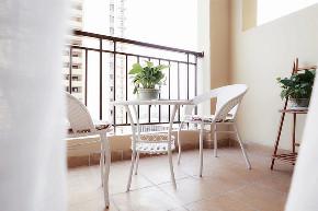 阳台图片来自家装大管家在90平北欧原木空间 简约而舒适的分享