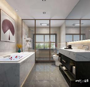 中式 装饰 设计 平层 卫生间图片来自重庆兄弟装饰黄妃在碧桂园中俊天玺装修效果参考图的分享