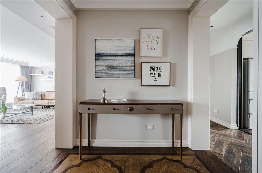 装修设计 装修完成 美式风格 玄关图片来自幸福空间在182平, 美式随兴恬淡之家的分享