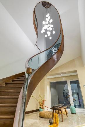 北京申远 申远空间 别墅装修 别墅 楼梯图片来自申远空间设计北京分公司在北京申远空间设计-新中式的分享