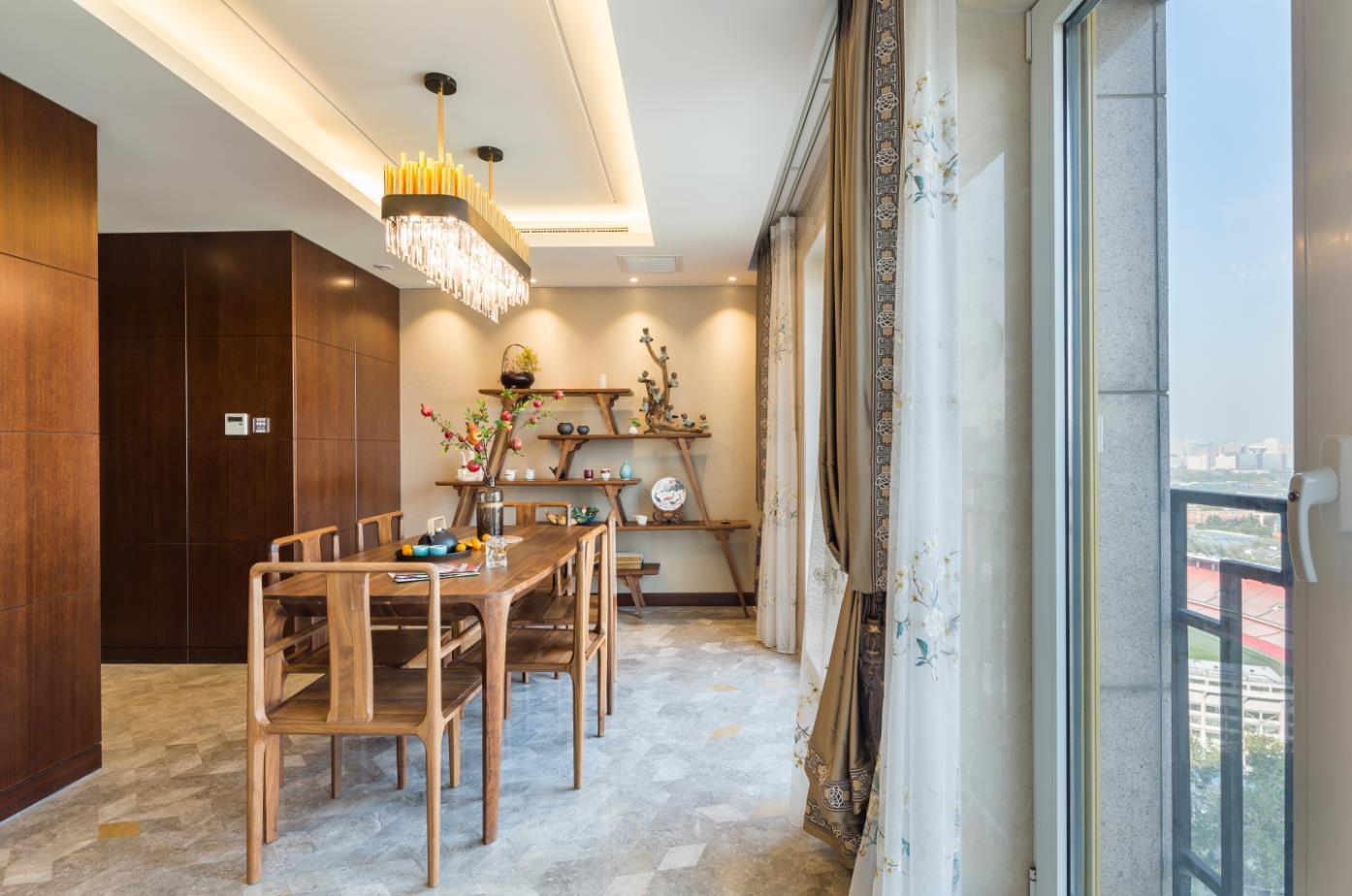 北京申远 申远空间 别墅装修 别墅 餐厅图片来自申远空间设计北京分公司在北京申远空间设计-新中式的分享