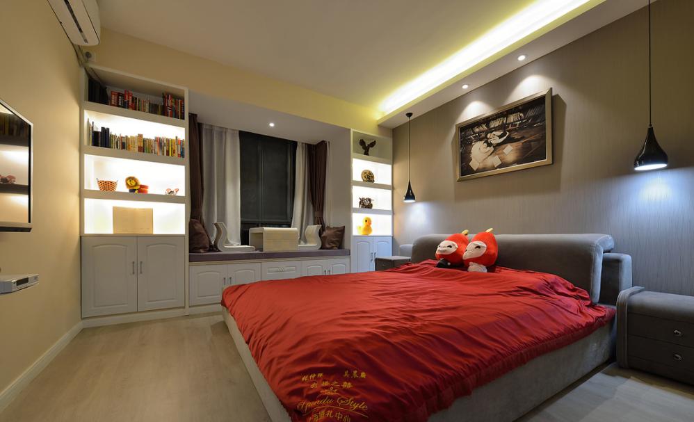 卧室图片来自我是小样在世茂·璀璨倾城现代93平两室现代的分享