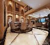 餐厅设计上,典型的欧式风格元素,以欧式线条勾勒出不同的装饰造型,气势恢宏、典雅大气。
