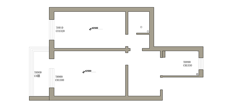 二居 收纳 旧房改造 小户型 久栖设计 家装 室内设计 装修设计 户型图图片来自久栖设计在巧用玻璃隔断做分区,拯救小户型的分享