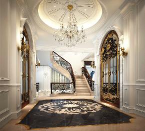北京申远 申远空间 别墅装修 装修设计 别墅 楼梯图片来自申远空间设计北京分公司在北京申远空间设计-法式新古典的分享