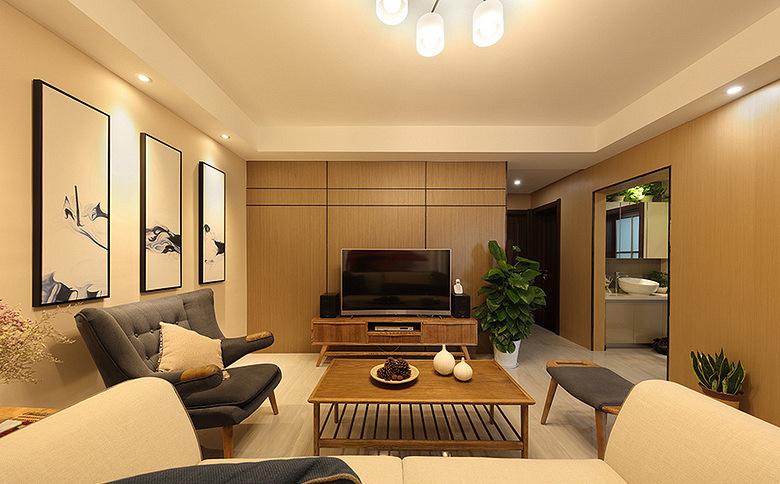 客厅图片来自家装大管家在110平新中式混搭居 稳重不失时尚的分享