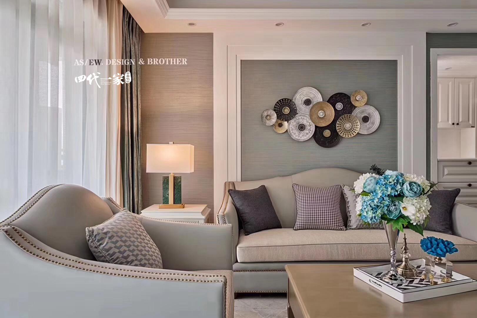 田园 三居 客厅图片来自重庆兄弟装饰黄妃在重庆大学集资楼小美式装修参考图的分享