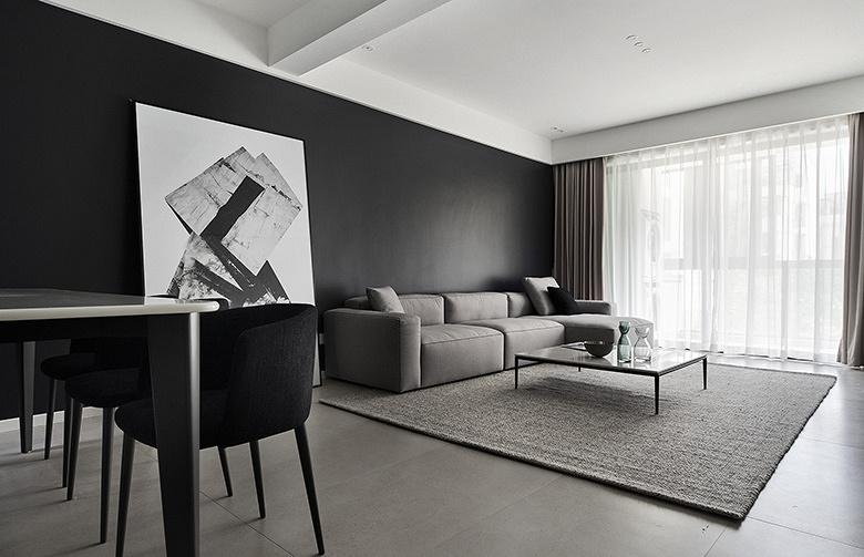 客厅图片来自家装大管家在165平现代极简空间 至简诠释大美的分享