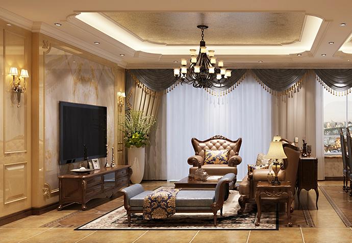 海珀佘山 别墅装修 法式古典 别墅设计师 客厅图片来自jtong0002在松江区海珀佘山270平别墅法式的分享