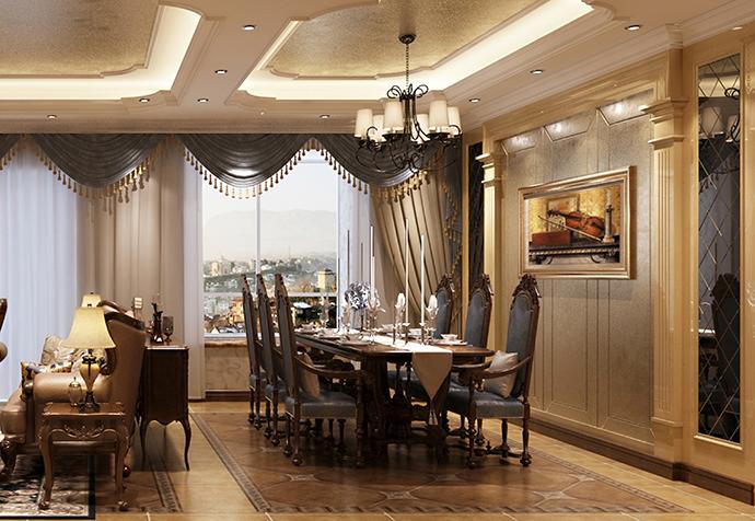 海珀佘山 别墅装修 法式古典 别墅设计师 餐厅图片来自jtong0002在松江区海珀佘山270平别墅法式的分享
