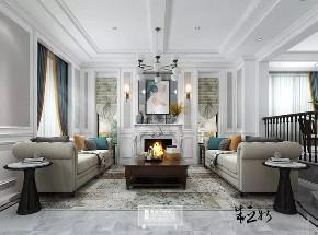 北京申远 别墅装修 别墅 美式 简美 客厅图片来自申远空间设计北京分公司在北京申远空间设计-轻美式风格的分享