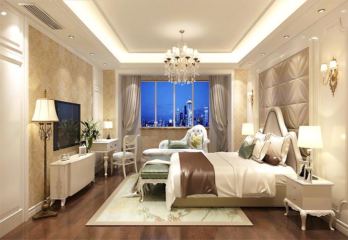 海珀佘山 别墅装修 法式古典 别墅设计师 卧室图片来自jtong0002在松江区海珀佘山270平别墅法式的分享