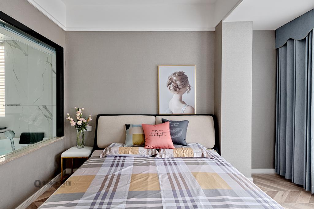 现代轻奢 现代风格 重庆装修 装修设计 现代装修 卧室图片来自俏业家装饰在康田蔚蓝海现代轻奢风格装修的分享