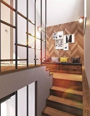 森系极简 楼梯图片来自晋级装饰潘露在晋级装饰——银亿万万城85平米的分享