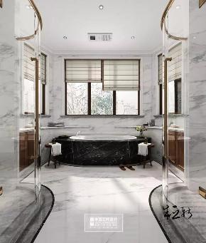 北京申远 别墅装修 别墅 美式 简美 卫生间图片来自申远空间设计北京分公司在北京申远空间设计-轻美式风格的分享