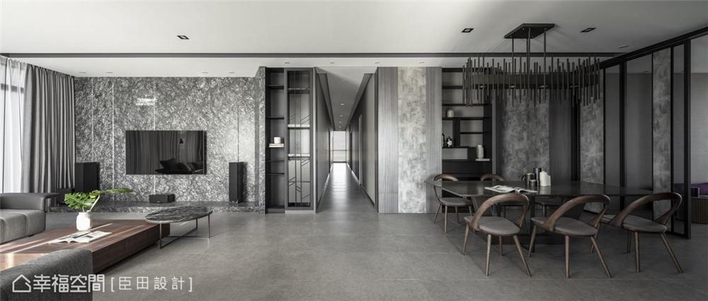 装修设计 装修完成 现代风格 客厅图片来自幸福空间在281平,韬光养晦大气宅的分享
