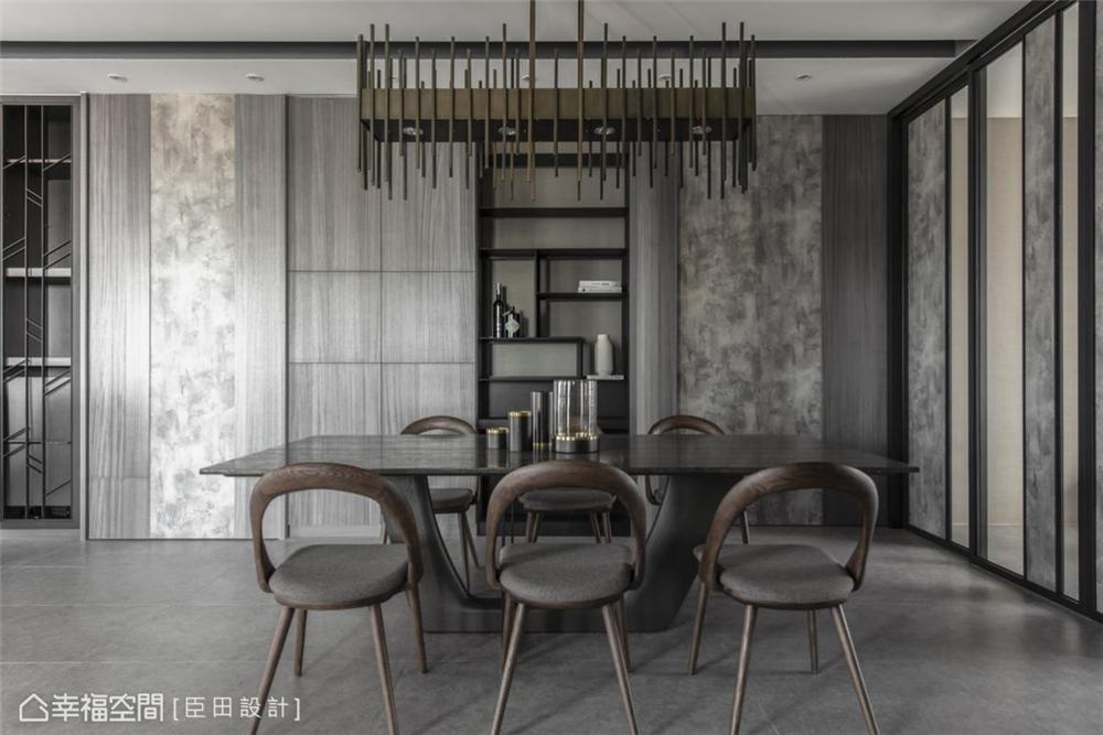 装修设计 装修完成 现代风格 餐厅图片来自幸福空间在281平,韬光养晦大气宅的分享