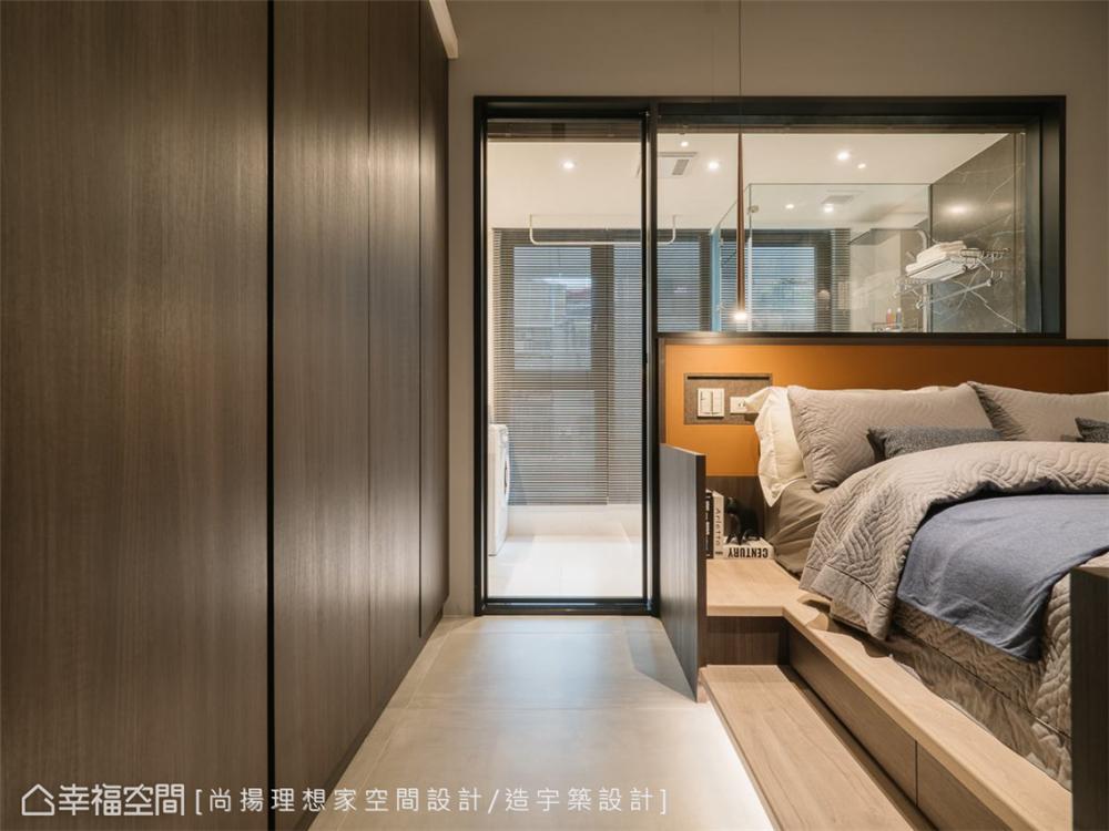 装修设计 装修完成 现代风格 卧室图片来自幸福空间在26平,现代清韵  全机能小宅的分享