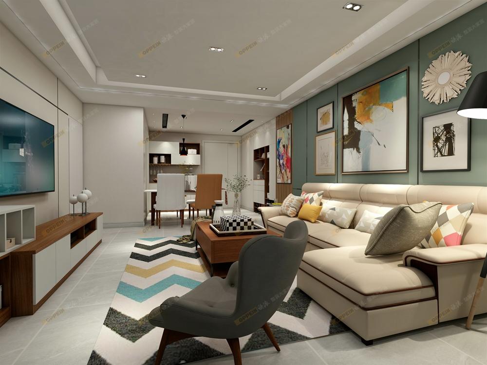 客厅 卧室 厨房图片来自河南追美装饰在【欧派整装大家居】斯图加特~的分享