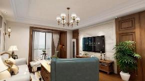 美式 客厅图片来自晋级装饰潘露在晋级装饰——金地名悦143平米的分享