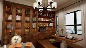 美式 书房图片来自晋级装饰潘露在晋级装饰——金地名悦143平米的分享