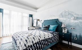 混搭 四居 上海 小资 卧室图片来自幸福空间在230㎡如歌如诗的雪域星城的分享