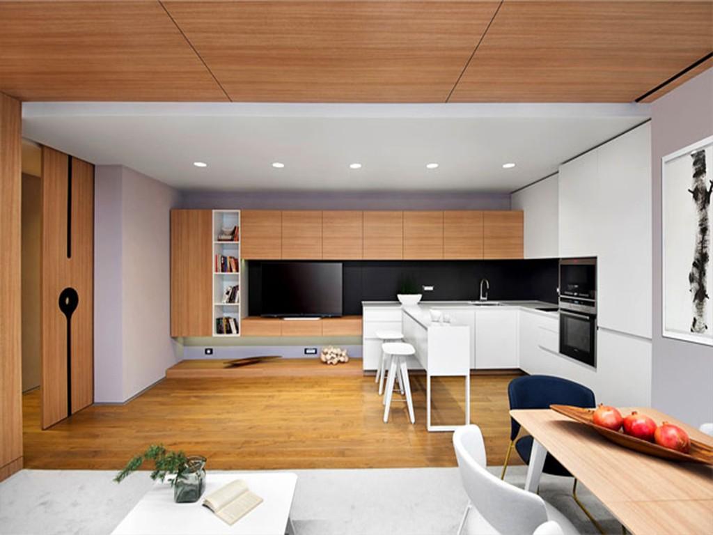 现代简约 三居室装修 装修效果图 装修案例 厨房图片来自创艺装饰在玉水金岸90平现代风格装修效果图的分享