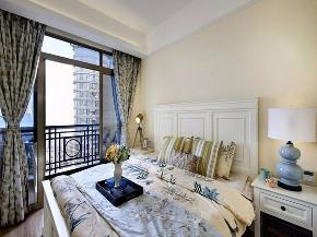 三居 美式 装修效果图 蒙自装修 卧室图片来自创艺装饰在天竺郦城131平米美式复古效果图的分享