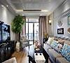 极大的放开了移民们对尺寸的欲望,使得美式风格以宽大,舒适,杂糅各种风格而著称,蒙自客厅装修效果图