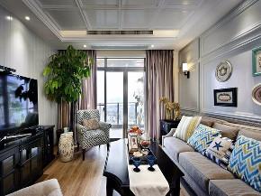 三居 美式 装修效果图 蒙自装修 客厅图片来自创艺装饰在天竺郦城131平米美式复古效果图的分享