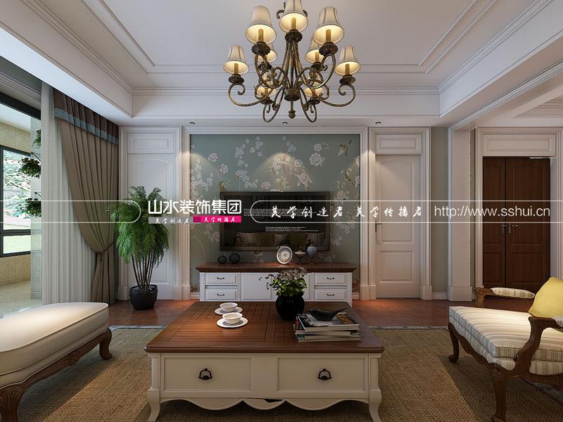 简美风格 绿城玫瑰园 四居室 客厅图片来自山水装饰在合肥绿城玫瑰园简美风格案例的分享