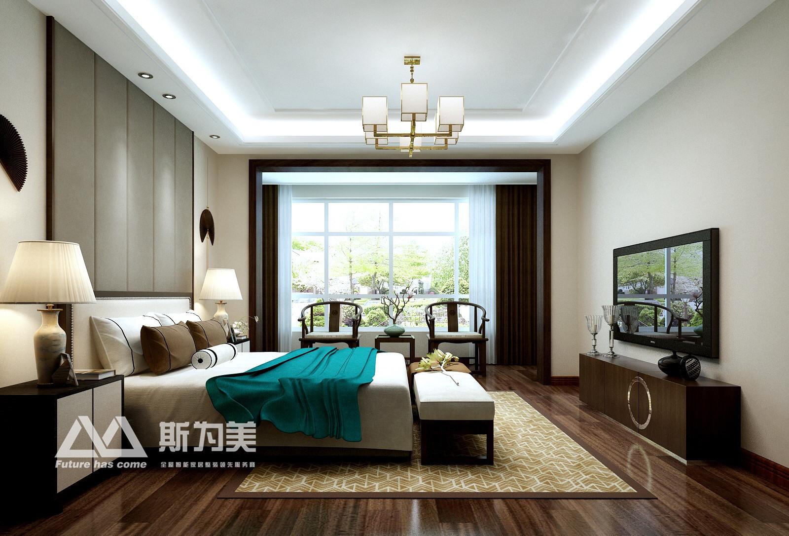 新中式 斯为美装饰 80后 卧室图片来自银川斯为美装饰在银川斯为美装饰 中瀛御景新中式的分享