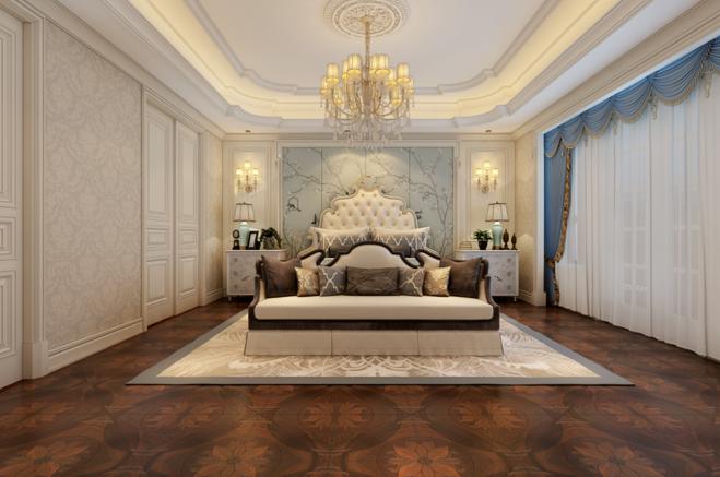 欧式 别墅 卧室图片来自山水装饰在内森庄园别墅欧式风格的分享