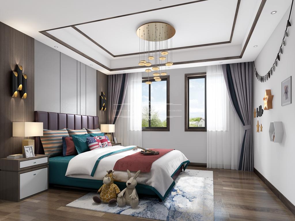 别墅 中式 设计 卧室图片来自重庆兄弟装饰黄妃在1000㎡山顶道御府别墅装修参考图的分享