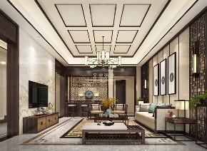 别墅 中式 设计 客厅图片来自重庆兄弟装饰黄妃在1000㎡山顶道御府别墅装修参考图的分享