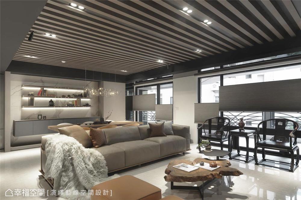 装修设计 装修完成 现代风格 客厅图片来自幸福空间在198平,现代新东方 幸福之家的分享