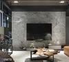 电视墙 演绎动线空间设计与屋主多次沟通后,选择天然石材做为这次主墙的视觉意象,让空间饶富磅礡气度。