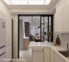 厨房 厨房内部规划白光与纯白调性,收纳柜与电器柜一应俱全,可有效收整所有物件,拉开门联通客厅时,也不会感觉凌乱不适。