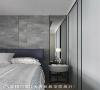 男孩房 男孩房以灰绿色为主调,漆面则用浅色系呈现,现代混搭中带点工业风的作法。床背墙用的是仿石纹质感的特殊板材,创造微粗犷质感。