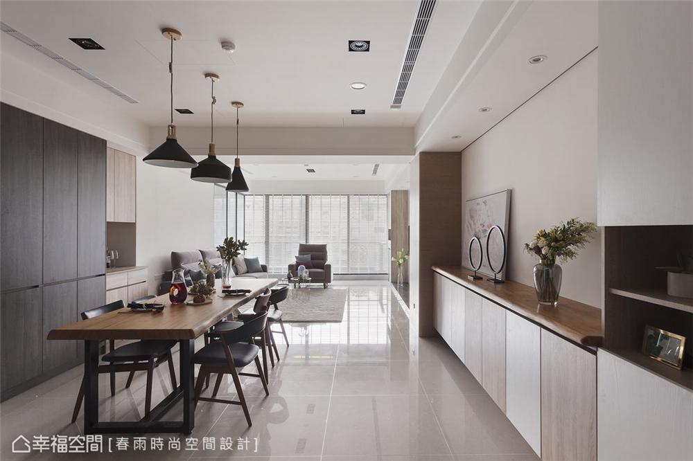 装修设计 装修完成 混搭 餐厅图片来自幸福空间在175平,北欧现代 简净舒适宅的分享