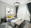 ▲主卧清爽大气,通过色彩的合理搭配,独特的设计理念,清爽的风格基调,突破了卧室原有的功能,体验到与众不同的氛围,严谨合理的逻辑使空间与艺术完美融合。