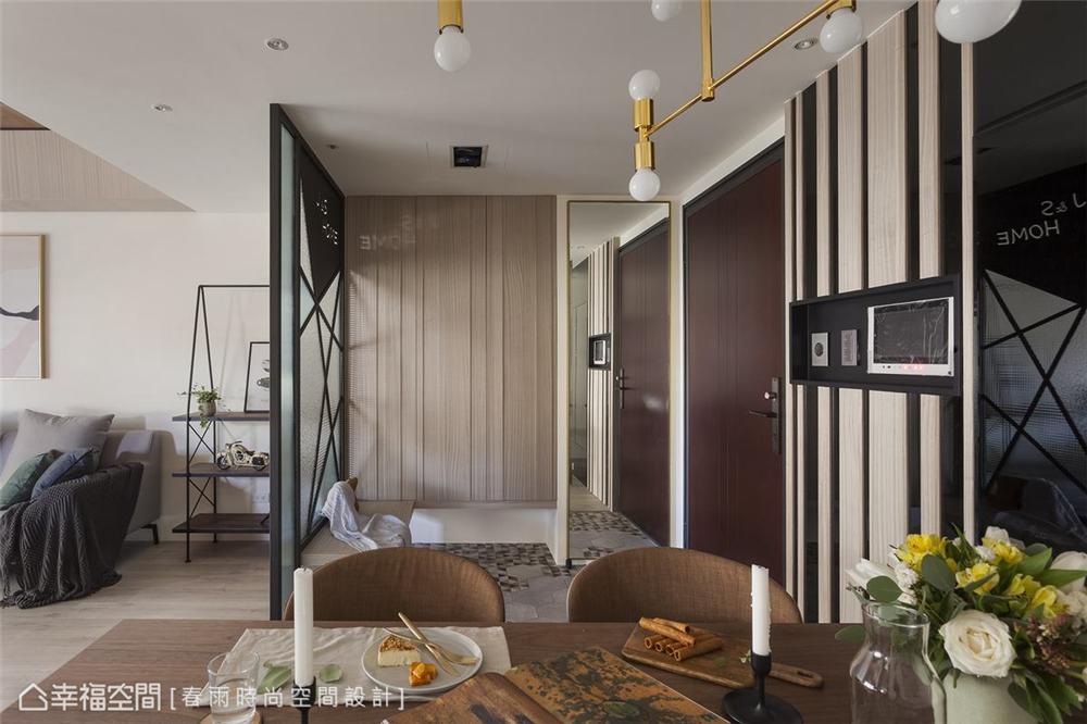 装修设计 装修完成 休闲多元 玄关图片来自幸福空间在99平,拼贴北欧镜幻森林宅的分享