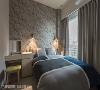 主卧室 写意优雅的壁纸点缀在床头背墙,成为整体空间的视觉亮点,搭配线条简约、造型典雅的家具,为屋主打造出舒适主卧。