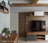 隐藏门片 透过墙面的线条与几何设计,将门片的裁切与边界完整隐藏,让餐桌一侧延伸到电视墙旁的墙面呈现一致性。