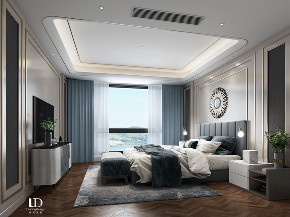 轻奢 现代 别墅 卧室图片来自重庆兄弟装饰黄妃在龙湖舜山府跃层装修设计效果图的分享